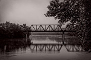 Trees And Bridge Prints - Wednesday Morning Fog Print by Bob Orsillo