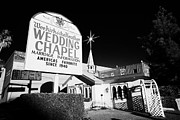 Wedding Chapel Posters - wee kirk o the heather wedding chapel on the strip Las Vegas Nevada USA Poster by Joe Fox