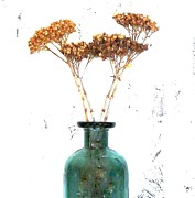 Floral Still Life Prints - Weeds in a Bottle Print by Marsha Heiken