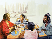 African-american Painting Posters - Weekend Breakfast Poster by Colin Bootman