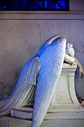 Metairie Cemetery Prints - Weeping Angel I Print by Chris Moore