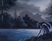 Graveyard Paintings - Weeping Angle by James Christopher Hill