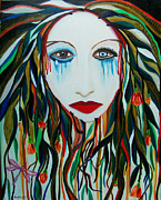 Serfinski Painting Originals - Weeping Willow by Karen Serfinski
