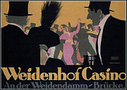 Affiche Mixed Media - Weidenhof Casino by Charles Ross