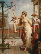 Aphrodite Prints - Weighing Cupid Print by Henri Pierre Picou