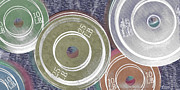 Icon Mixed Media Originals - Weight Plates by Tony Rubino