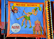Freak Show Prints - Weird Woman Print by David Lee Thompson