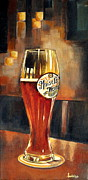 Bier Painting Framed Prints - Weiss Beer Framed Print by Ambika Jhunjhunwala