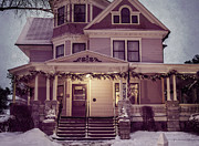Victorian Inn Prints - Welcome Inn From the Cold Print by Joan Carroll