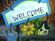 Folksy Prints - Welcome Print by Lin Haring