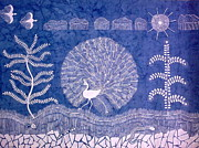 Warli Paintings - WELCOME MONSOON- Warli painting Landscape painting by Aboli Salunkhe