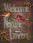 Cardinal Paintings - Welcome Nature Lovers 2 by JQ Licensing