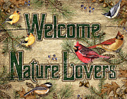 Goldfinch Prints - Welcome Nature Lovers Print by JQ Licensing