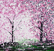 Cherry Blossoms Paintings - Welcome Spring by Kume Bryant