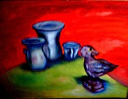 Pottery Paintings - Welcome the Day by Suzanne Berthier