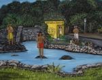 Welcome To Aguadilla Print by Gloria E Barreto-Rodriguez