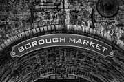 Streets Metal Prints - Welcome to Borough Market Metal Print by Heather Applegate