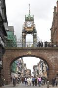 Clock Metal Prints - Welcome to Chester Metal Print by Mike McGlothlen