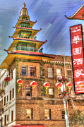 Manipulated Framed Prints - Welcome to Chinatown Framed Print by Juli Scalzi