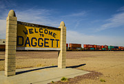 Black Top Acrylic Prints - Welcome to Daggett California Acrylic Print by Deborah Smolinske