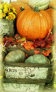 Frizzell Posters - Welcome to Fall Poster by Michelle Frizzell-Thompson