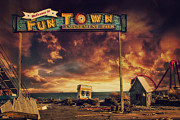 Seaside Heights Prints - Welcome to Fun Town Print by Kim Zier