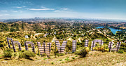 Panoramic Metal Prints - Welcome to Hollywood Metal Print by Natasha Bishop