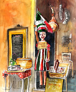 Food Drawings - Welcome to Italy 07 by Miki De Goodaboom