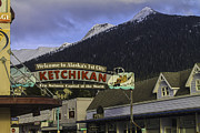 Landscape With Mountains Framed Prints - Welcome to Ketchikan Framed Print by Timothy Latta