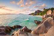 Welcome To La Digue Print by Michael Breitung