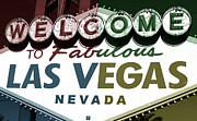 Las Vegas Artist Framed Prints - Welcome to Las Vegas Fusion Framed Print by John Rizzuto