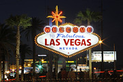 Night-time Framed Prints - Welcome to Las Vegas Framed Print by Mike McGlothlen