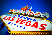 Gamble Posters - Welcome to Las Vegas Sign Poster by Amy Cicconi
