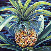 Pineapple Paintings - Welcome to my World by Danielle  Perry