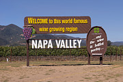 Featured - Welcome To Napa Valley California DSC1681 by Wingsdomain Art and Photography