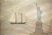 Sailing Ship Prints - Welcome to NYC Print by Hannes Cmarits
