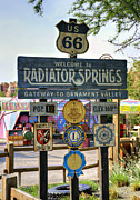 Disney California Adventure Park Posters - Welcome To Radiator Springs Poster by Ricky Barnard