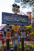 Anaheim California Framed Prints - Welcome to Radiator Springs Framed Print by Tommy Anderson