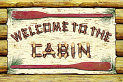 Hunting Cabin Posters - Welcome To The Cabin Poster by JQ Licensing