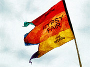 Waving Flag Digital Art - Welcome to the Gypsy fair by Steve Taylor