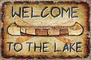 Welcome To The Lake Print by JQ Licensing