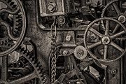 Gear Metal Prints - Welcome to the Machine Metal Print by Erik Brede