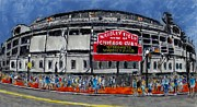 Cubs Painting Originals - Welcome to Wrigley Field by Phil Strang
