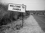 Zambia Posters - Welcome To Zambia Poster by Bruce J Robinson