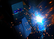 At Work Digital Art Posters - Welders on Fire Poster by Linda Unger