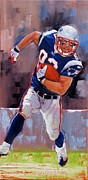 Football Paintings - Welker by Laura Lee Zanghetti