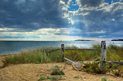 Light Rays Prints - Wellfleet Harbor Cape Cod Print by Bill  Wakeley