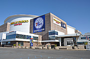 76ers Framed Prints - Wells Fargo Center Framed Print by Bill Cannon