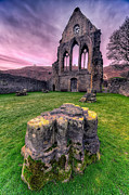 Ruins Digital Art Metal Prints - Welsh Abbey  Metal Print by Adrian Evans