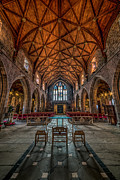 Stained Glass Prints - Welsh Cathedral  Print by Adrian Evans